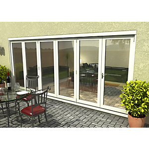54mm White Sliding Folding Door 5+1 Opening