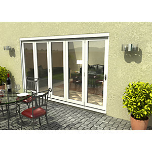 54mm White Sliding Folding Door Set