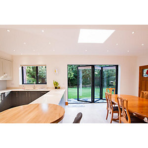 Vista Aluminium 3 Leaf Bifold Door (Max width = 3000mm)  Grey Exterior & White Interior Finish - Made To Order