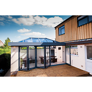 Vista Aluminium 5 Leaf Bifold Door (Max width = 5000mm)  Grey Exterior & Grey Interior Finish - Made To Order