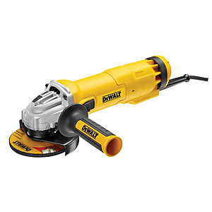 DeWalt 230V Corded No-Volt Slide Switch Mini Angle Grinder 1010W 115mm DWE4206K