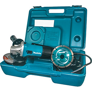 Makita 110V Corded 115mm Slim Angle Grinder Kit GA4530RKD