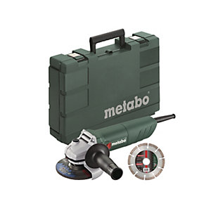 Metabo 115mm Angle Grinder W 750-115 110V, 750W with General Purpose Diamond Blade & Plastic Carry Case