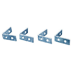 4Trade Corner Braces Zinc Plated 40mm Pack of 2