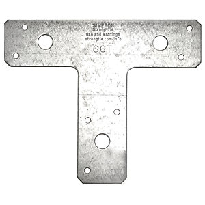 Simpson Strong-Tie Flat T Shaped Angled Bracket 125 x 150 mm 66T
