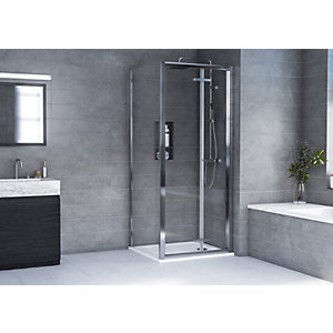 Aqualux 6mm Hd Bi-Fold Shower Enclosure 1900mm With 35mm Tray