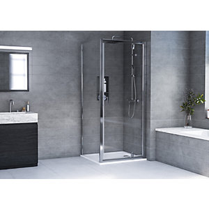 Aqualux 6mm Hd Pivot Shower Enclosure 1935mm With 35mm Tray
