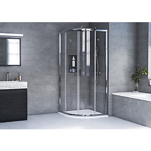 Aqualux 6mm Hd Quadrant Shower Enclosure 1900mm With 35mm Tray