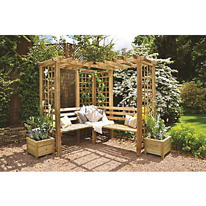 Forest Garden Sorrento Arbour 2170mm x 1990mm x 2020mm