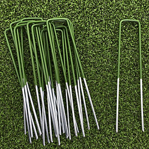 Luxigraze Artificial/Fake Grass Camouflaged U-pins 150mm x 30mm x 4mm - Pack of 10