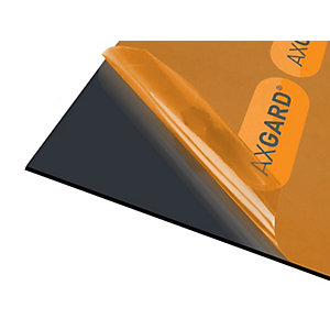 Axgard Glazing Sheet Black 3mm UV 1000mm