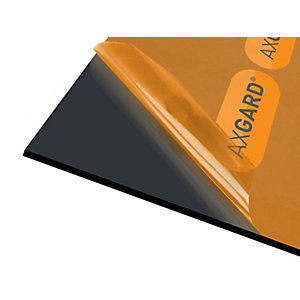 Axgard Glazing Sheet Black 6mm UV 500mm