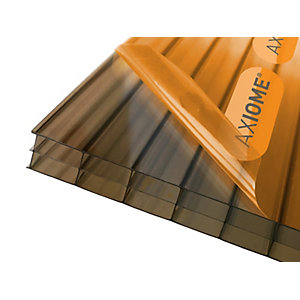 Axiome Bronze 16mm Triplewall Polycarbonate Sheet 1050mm