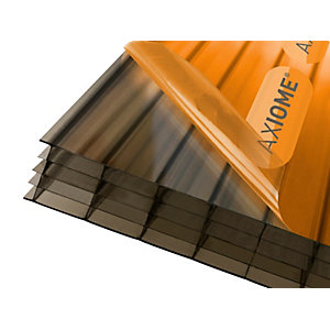 Axiome Bronze 25mm Multiwall Polycarbonate Sheet 1250mm