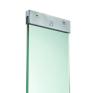 Glass Panel with Brackets Pack 876mm x 150mm x 8mm Pack of 4
