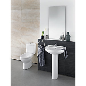 Roca Laura 1 Taphole 56cm Basin and Pedestal