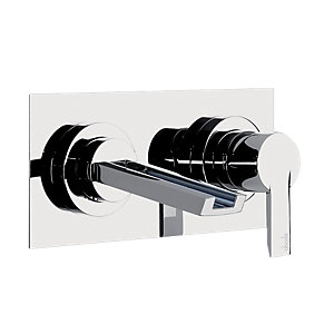Abode Desire Wall Mounted Basin Mixer Tap Chrome AB1354