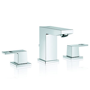 Grohe Eurocube Three-Hole Basin Mixer Tap 4005176901041