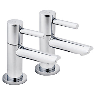 iflo Aura Basin Taps Chrome Pair