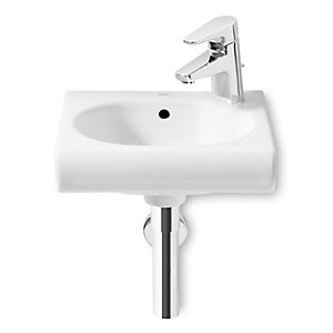 Roca 327249000 Meridian-N Compact Cloakroom Basin 1 Tap Hole Right Hand 350mm x 320mm