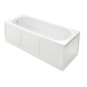 Heritage Classic White Ash End Bath Panel 700mm KWA04