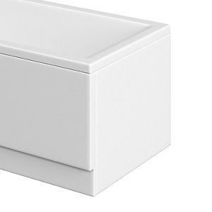 Trojan Supastyle End Bath Panel  White 700 White