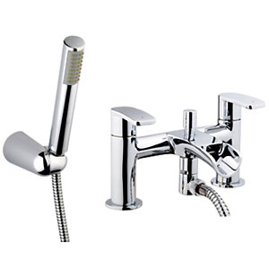 iflo Waterscade Bath Shower Mixer Tap Brass with Shower Kit