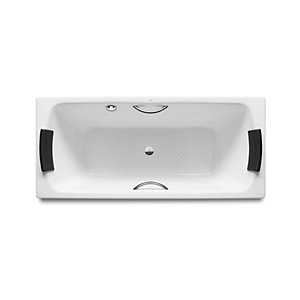 Roca Lun Plus Bath with Anti Slip and Gripholes 1800mm x 800mm A2212G0000