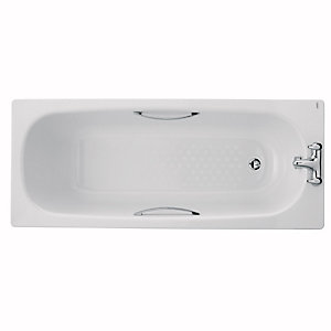 Twyford Celtic Steel Bath White 1600 x 700mm BS1272WH