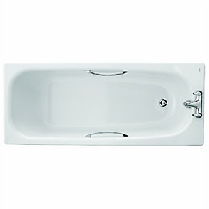 Twyford Neptune Steel Bath White 1700mm NE9572WH