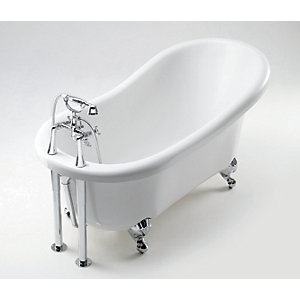 iflo Victoria 2 Tap Hole Slipper Bath 1560mm x 740mm