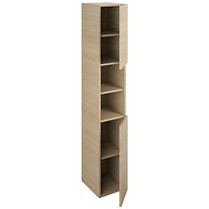 iflo Aliano Tower Unit Oak 2 Including Door 300mm x 1800mm