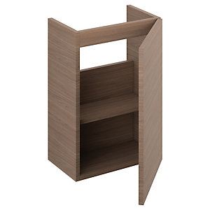 iflo Aliano Wall Hung Unit Walnut Including 1 Door 400mm x 250mm