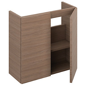 iflo Aliano Wall Hung Unit Walnut Including 2 Door 600mm x 250mm