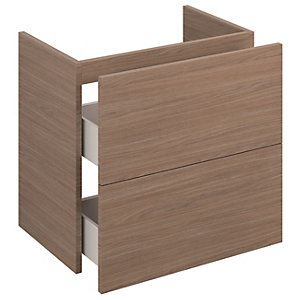 iflo Aliano Wall Hung Unit Walnut Including 2 Drawer 600mm x 380mm