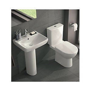 Twyford E100 Square Basin & Toilet Suite