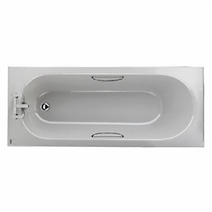 Twyford Opal Bath Includes CP Grips 1700mm x 700mm OL8322WH