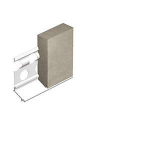 Expamet External Galvanised Steel with White PVC Nosing Render Stop Bead 20mm x 3m