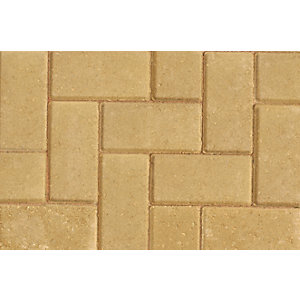 Marshalls Driveline 50 Buff Block Paving 200mm x 100mm x 50mm - Pack of 488