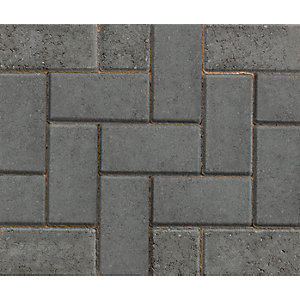 Marshalls Driveline 50 Charcoal Block Paving 200mm x 100mm x 50mm Pack of 488