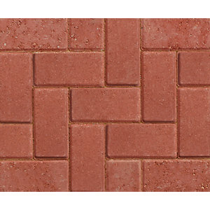 Marshalls Driveline 50 Red Block Paving 200mm x 100mm x 50mm Pack of 488