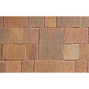 Marshalls Drivesett Tegula Block Paving Autumn 240mm x 160mm x 50mm - Pack of 284