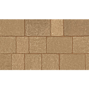 Marshalls Drivesett Tegula Cotswold Deco Block Paving Pack 110mm x 110mm x 50mm