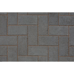 Marshalls Keyblock Concrete Block Paving  Charcoal 200mm x 100mm x 80mm - Pack of 308 8.08 m2 pack coverage