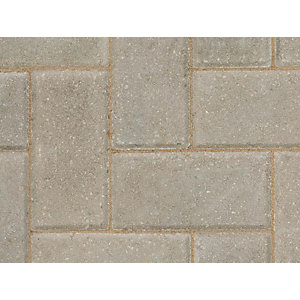 Marshalls Keyblock Concrete Block Paving  Grey 200mm x 100mm x 60mm - 8.08 m2 pack coverage