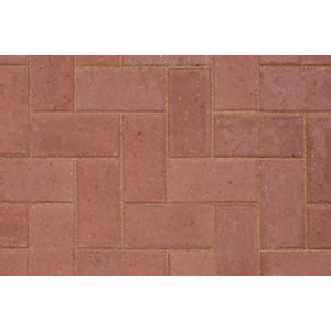 Marshalls Keyblock Concrete Block Paving  Red 200mm x 100mm x 80mm - Pack of 308 8.08 m2 pack coverage