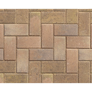 Marshalls Standard Concrete Block Paving Bracken 200mm x 100mm x 50mm