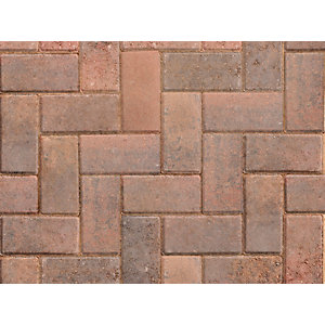 Marshalls Standard Concrete Block Paving Brindle 200mm x 100mm x 50mm PV1053000