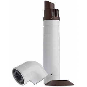 Baxi 720599401 Multifit Telescopic Horizontal Flue Inc Low Profile Bend