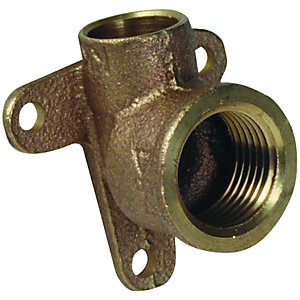 Backplate Elbow End Feed 15mm x 1/2in